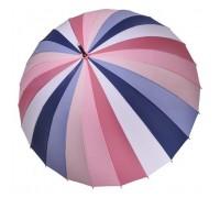 """Зонт-трость """"Три Слона"""" женский №2400-1, купол 55 см (D=97 см), 24 спицы, розово-синий"""