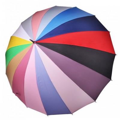 """Зонт-трость """"Три Слона"""" женский №2450, купол 60 см (D=103 см), радуга"""