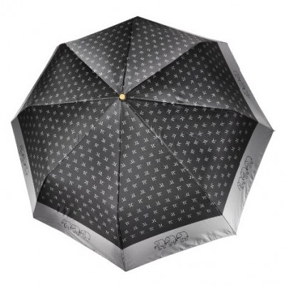 """Зонт """"Три Слона"""" женский №288-1, складной, купол D=103 см, суперавтомат, цвет черный"""