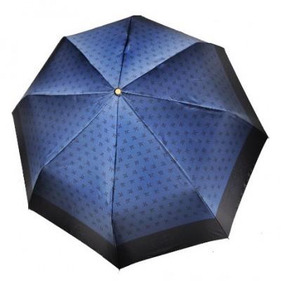 """Зонт """"Три Слона"""" женский №288-4, складной, купол D=103 см, суперавтомат, цвет синий"""