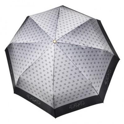 """Зонт """"Три Слона"""" женский №288-5, складной, купол D=103 см, суперавтомат, цвет серебристо-серый"""