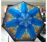 "Зонт ""Три Слона"" женский №292-8 mini, собор, синий, 7 спиц, купол R=53 см"