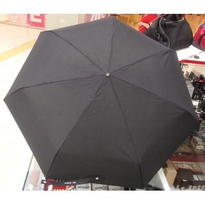 """Зонт """"Три Слона"""" мужской №295, купол D=86 см, 7 спиц, черный, ручка прямая пластик, суперавтомат, 4 сложения"""