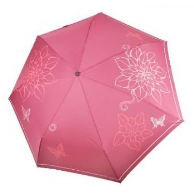 """Зонт """"Три Слона"""" женский №368-K-10, облегченный, купол R=58 см, пыльная роза"""