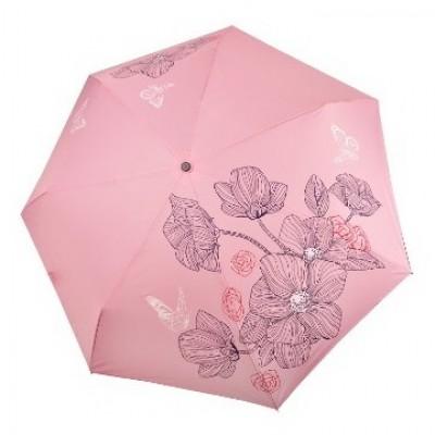 """Зонт """"Три Слона"""" женский №368-K-3, облегченный, купол R=58 см, нежно-розовый"""