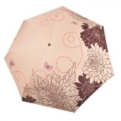 """Зонт """"Три Слона"""" женский №368-K-4, облегченный, купол R=58 см, цвет: топленое молоко"""