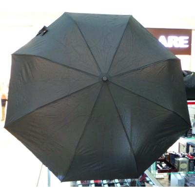 """Зонт """"Три Слона"""" мужской №500-L, радиус купола 58 см (D=102 см), 8 спиц, черный, ручка крюк кожа"""