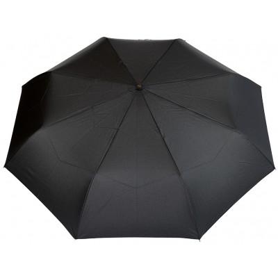 """Зонт """"Три Слона"""" мужской №560, купол D=104 см, 8 спиц, черный, ручка крюк пластик"""