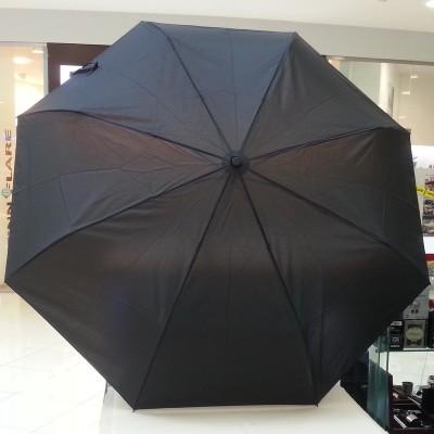 """Зонт """"Три Слона"""" мужской №600, купол D=110 см, 8 спиц, черный, ручка прямая пластик"""