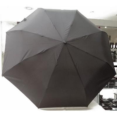 """Зонт """"Три Слона"""" мужской №602, купол D=110 см, 8 спиц, черный, ручка-крюк пластик"""
