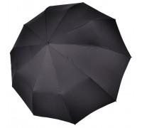 """Зонт """"Три Слона"""" мужской №605, купол D=116 см,10 спиц, черный, ручка-прямая пластик"""
