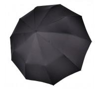 """Зонт """"Три Слона"""" мужской №770, купол D=122 см, 10 спиц, черный, ручка прямая, семейный"""