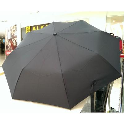 """Зонт """"Три Слона"""" мужской №795, купол 58 см, 8 спиц, черный, ручка прямая пластик"""
