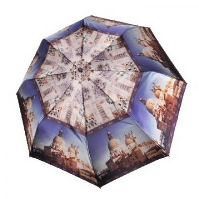 """Зонт """"Три Слона"""" женский №882-a-2, 8 спиц, купол D=97 см (R=55 см), фотосатин"""
