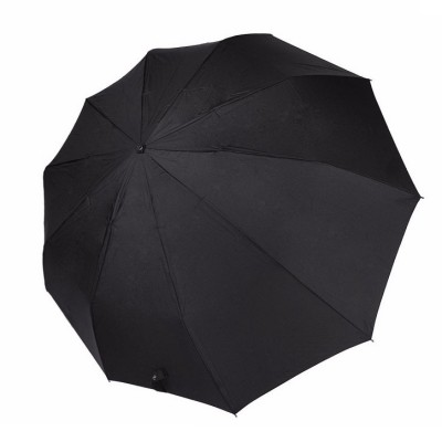 """Зонт """"Три Слона"""" мужской №910, радиус купола 58 см (D=104 см), 10 спиц, черный, ручка прямая пластик"""