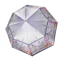 "Зонт ""Три Слона"" женский №453-C-3, купол R=58 см, суперавтомат, рисунок Антверпен"