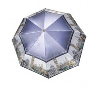 """Зонт """"Три Слона"""" женский №453-C-5, купол R=58 см, облегченный, рисунок Лондон"""