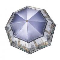 """Зонт """"Три Слона"""" женский №453-C-5, купол R=58 см, суперавтомат, рисунок Лондон"""