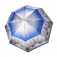 "Зонт ""Три Слона"" женский №453-C-6, купол R=58 см, суперавтомат, рисунок Барселона"